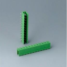 B6603222 / Cabezal de enchufe: bloque 5.08 - PA 6 (UL 94 V-0)