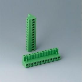 B6605223 / Cabezal de enchufe: bloque 5.08 - PA 6 (UL 94 V-0)