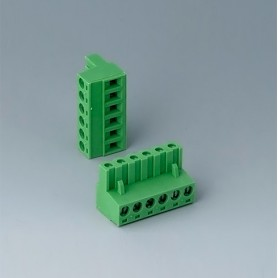 B6608223 / Cabezal de enchufe: bloque 5.08 - PA 68 (UL 94 V-0)