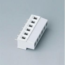 B6801650 / Bloque de terminales: bloque 5.08 - PA 68 (UL 94 V-0) - light grey