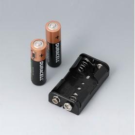 A9156001 / Soporte para batería: 2 x AA - PP - black RAL 9005