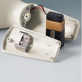 A9156003 / Soporte para batería: 1 x 9 V (PP3) - Acero - nickel-plated