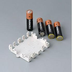 A9174004 / Soporte para batería: 4 x AA - ABS (UL 94 HB) - off-white RAL 9002