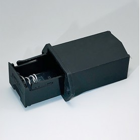 A9302510 / Soporte para batería: 1 x 9 V (PP3) - PA - black RAL 9005