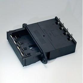 A9302540 / Soporte para batería: 4 x AA - PA - black RAL 9005