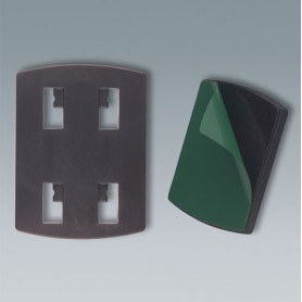 A9220019 / Adaptador para dispositivo de sujeción (sistema de 4 garras) - ABS (UL 94 HB) - black - 57x42x6mm