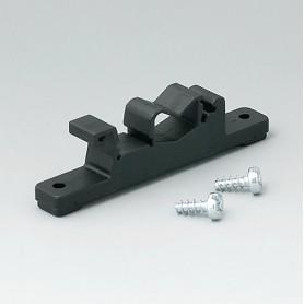B1300019 / Elemento de fijación para carriles DIN - PA 6 - black RAL 9005