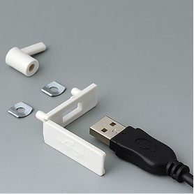 A9320107 / Cubierta para USB - PP - off-white RAL 9002 - 35x13mm