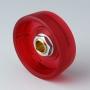 B8233063 / STAR-KNOBS 33 - PC (UL 94 HB)  ruby - 33x14mm - Orificio de eje 6 mm