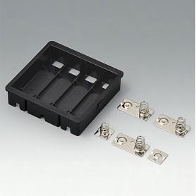 EZ050609 / Compartimento para batería: 4 x AA - ASA+PC-FR (UL 94 V-0) - black RAL 9005
