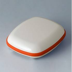B1604107 / BODY-CASE M: sin hendidura - ASA (UL 94 HB) - traffic white RAL 9016 - 50x41x16mm - IP 65