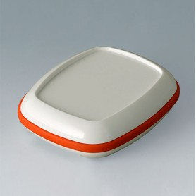 B1604207 / BODY-CASE M: con hendidura - ASA (UL 94 HB) - traffic white RAL 9016 - 50x41x16mm - IP 65