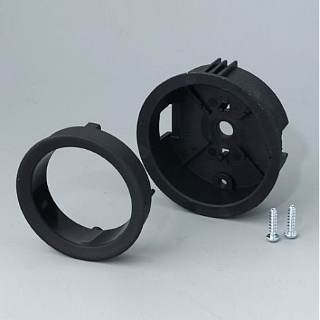 B8741119 / STAR-KNOBS Versión empotrable con Iluminación LED - Kit de montaje 41 - PA 6 - nero