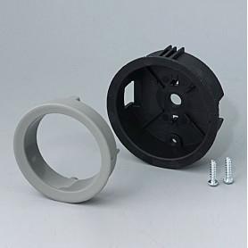 B8733118 / STAR-KNOBS Versión empotrable con Iluminación LED - Kit de montaje 33 - PA 6 - Volcano