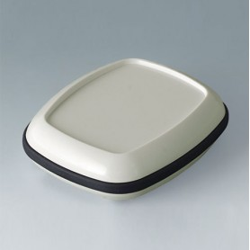 B1604217 / BODY-CASE M: con hendidura - ASA (UL 94 HB) - traffic white RAL 9016 - 50x41x16mm - IP 65