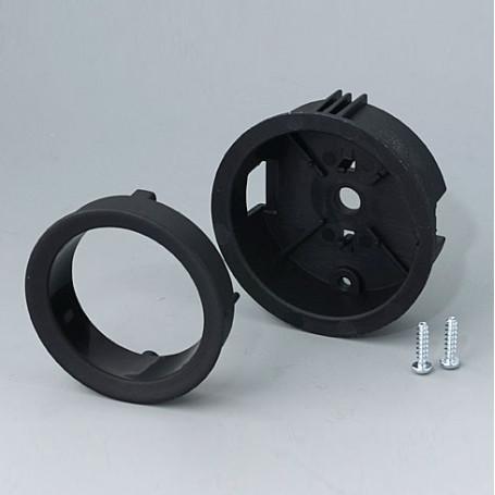 B8733119 / STAR-KNOBS Versión empotrable con Iluminación LED - Kit de montaje 33 - PA 6 - nero