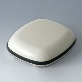 B1606117 / BODY-CASE L: sin hendidura - ASA (UL 94 HB) - traffic white RAL 9016 - 55x46x17mm - IP 65