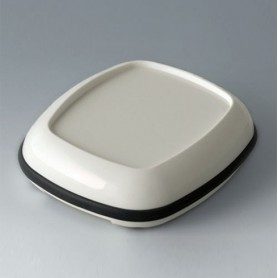 B1606217 / BODY-CASE L: con hendidura - ASA (UL 94 HB) - traffic white RAL 9016 - 55x46x17mm - IP 65