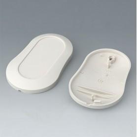 B9004907 / MINITEC: Parte inferior y superior DM - ABS (UL 94 HB) - off-white RAL 9002 - 70x44x16mm