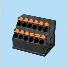BC0153-02-XX / Screwless PCB PID terminal block  - 5.00 mm