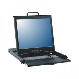 "DC1xx-0000 | Consola DUAL RAIL 15"" - 17"" - 19"" para montaje en Rack 1U (LCD console - Single Port)"