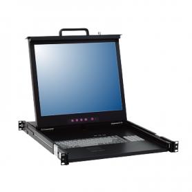 "DC1_0-0001 | Consola SINGLE RAIL 15"" - 17"" - 19"" para montaje en Rack 1U (LCD console - Single Port)"
