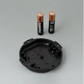 B5111109 / Compartimento de batería: 2 x AAA - ABS (UL 94 HB) - black RAL 9005