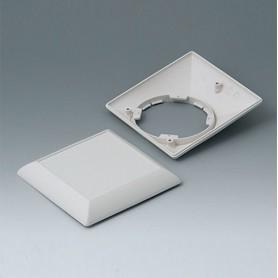 B5012207 / ART-CASE (VERSIÓN S): Parte inferior y superior S110F - ABS (UL 94 HB) - off-white RAL 9002 - 110x110x38mm
