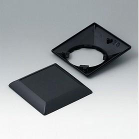 B5012209 / ART-CASE (VERSIÓN S): Parte inferior y superior S110 F - ABS (UL 94 HB) - black RAL 9005 - 110x110x38mm