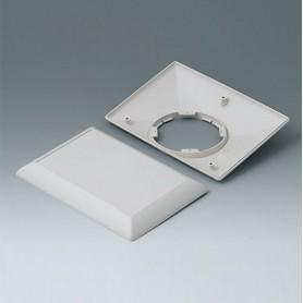 B5017207 / ART-CASE (VERSIÓN E): Parte inferior y superior E160 F - ABS (UL 94 HB) - off-white RAL 9002 - 160x110x38mm