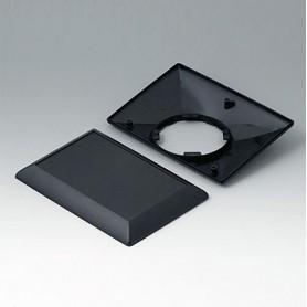 B5017209 / ART-CASE (VERSIÓN E): Parte inferior y superior E160 F - ABS (UL 94 HB) - black RAL 9005 - 160x110x38mm