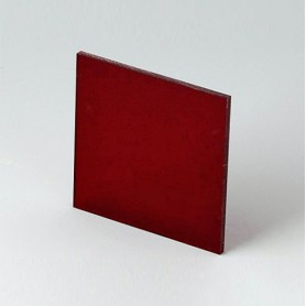 B6112341 / Panel frontal - Vidrio acrílico - red transparent - 43,6x43,6x2mm