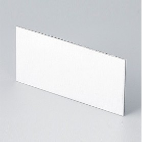 B6121112 / Panel trasero - Aluminio - matt anodised - 57,6x28,6x1mm