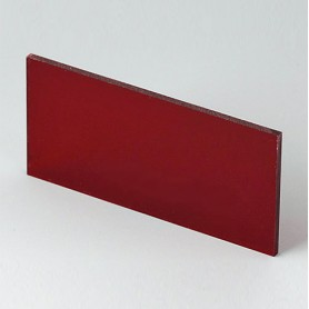 B6121341 / Panel frontal - Vidrio acrílico - red transparent - 67,7x31,6x2mm