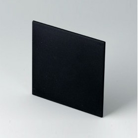B6123221 / Panel frontal - PPO (UL 94 V-0) - black RAL 9005 - 67,6x67,6x2mm