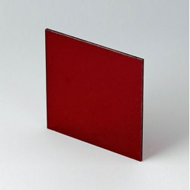 B6123341 / Panel frontal - Vidrio acrílico - red transparent - 67,5x67,5x2mm