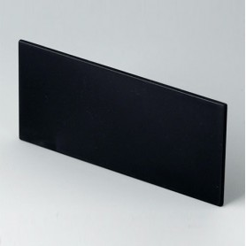 B6132221 / Panel frontal - PPO (UL 94 V-0) - black RAL 9005 - 91,6x43,5x2mm