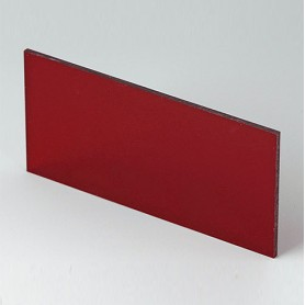 B6132341 / Panel frontal - Vidrio acrílico - red transparent - 91,5x43,4x2mm