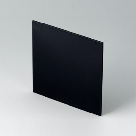B6134221 / Panel frontal - PPO (UL 94 V-0) - black RAL 9005 - 90,7x90,7x2mm