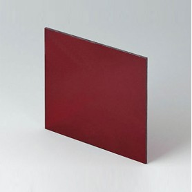 B6134341 / Panel frontal - Vidrio acrílico - red transparent - 90,6x90,6x2mm
