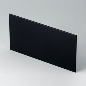 B6143222 / Panel trasero - PPO (UL 94 V-0) - black RAL 9005 - 119,1x62,7x2mm
