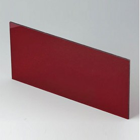 B6143341 / Panel frontal - Vidrio acrílico - red transparent - 139,2x67,3x2mm