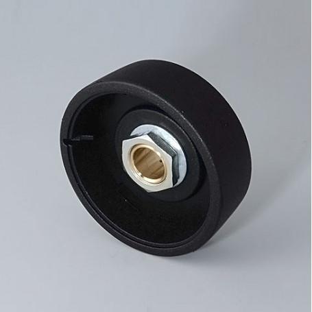 B8041069 / STAR-KNOBS 41 - PA 6 - nero - 41x14mm - Orificio de eje 6 mm