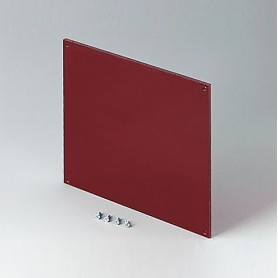 B6145341 / Panel frontal - Vidrio acrílico - red transparent - 138x138x3mm