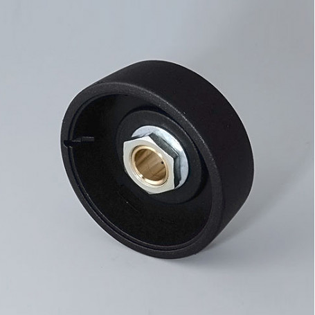 B8041089 / STAR-KNOBS 41 - PA 6 - nero - 41x14mm - Orificio de eje 8 mm