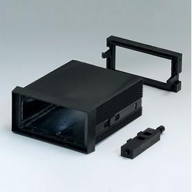 B6021021 / CAJA DIN-MODULAR TIPO A - PPO (UL 94 V-0) - black RAL 9005 - 72x36x75mm