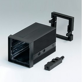 B6012021 / CAJA DIN-MODULAR TIPO A - PPO (UL 94 V-0) - black RAL 9005 - 48x48x75mm