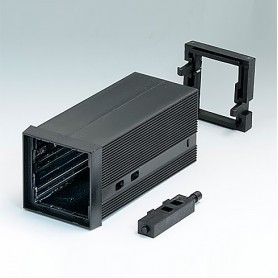 B6012031 / CAJA DIN-MODULAR TIPO A - PPO (UL 94 V-0) - black RAL 9005 - 48x48x100mm