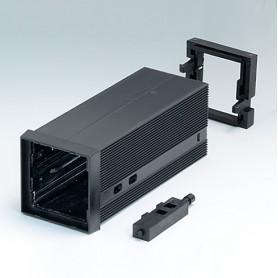 B6012051 / CAJA DIN-MODULAR TIPO A - PPO (UL 94 V-0) - black RAL 9005 - 48x48x114mm