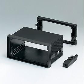 B6032011 / CAJA DIN-MODULAR TIPO A, Vers. I - PPO (UL 94 V-0) - black RAL 9005 - 96x48x57mm